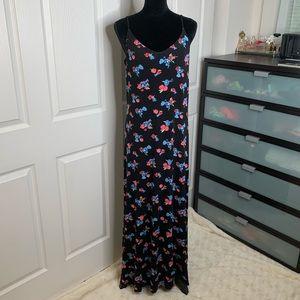 SO | Black Floral | Maxi Dress